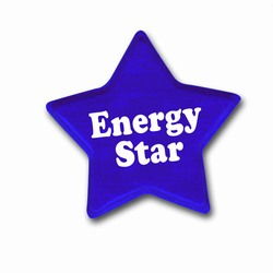 "eh006 - Energy Conservation 1 3/16"" REFLECTIVE Square Sticker , Energy Conservation Handouts, Energy Conservation Gift, Energy Conservation Incentive"
