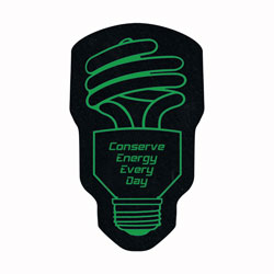 AI-ehdsk142 - Energy Handout Jar Opener, Energy Conservation Coaster with Atlas Saving the World. Energy Conservation Handouts, Energy Conservation Gift, Energy Conservation Incentive