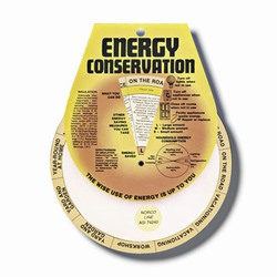 eh920b - Energy Conservation Info Wheel, Energy Conservation Handouts, Energy Conservation Gift, Energy Conservation Incentive