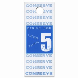 eh953-02 - Water Conservation Shower Hanger, Energy School Handouts, Energy Conservation School Items, Energy Conservation School Ideas
