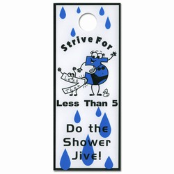 eh953 - Water Conservation Shower Hanger, Energy School Handouts, Water Conservation School Items, Energy Conservation School Ideas