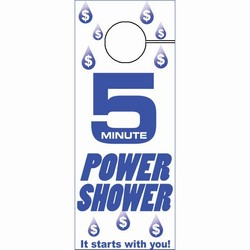 eh954 - Water Conservation Shower Hanger, Energy School Handouts, Energy Conservation School Items, Energy Conservation School Ideas