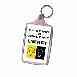 eh313 - Energy Conservation Key Ring, Energy Conservation Handouts, Energy Conservation Gift, Energy Conservation Incentive