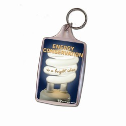 eh313-02 - Energy Conservation Key Ring, Energy Conservation Handouts, Energy Conservation Gift, Energy Conservation Incentive