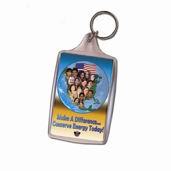eh313-04 - Energy Conservation Key Ring, Energy Conservation Handouts, Energy Conservation Gift, Energy Conservation Incentive