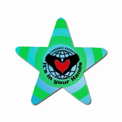 em004 - Energy Conservation Star Magnet, Energy Conservation Handouts, Energy Conservation Gift, Energy Conservation Incentive