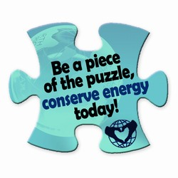 em005 - Energy Conservation Puzzle Magnet, Energy Conservation Handouts, Energy Conservation Gift, Energy Conservation Incentive