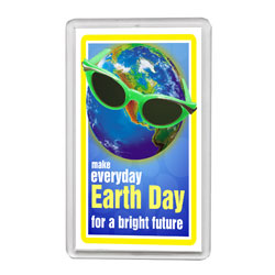 AI-ehmag020 - Earth Day Acrylic Magnet, Energy Conservation Handouts, Energy Conservation Gift, Energy Conservation Incentive