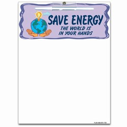 eh033-02 - Energy Conservation Wipe-Off MEMO BOARD 8.5x11, Energy Conservation Handouts, Energy Conservation Gift, Energy Conservation Incentive