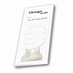 eh208 - Energy Conservation Notepad, Energy Conservation Things To Do Notepad. 3 x 8. Adhesive 50 sheet pad. Organize your Energy Conservation Day with this To-Do List!Energy Conservation Handouts, Energy Conservation Gift, Energy Conservation Incentive