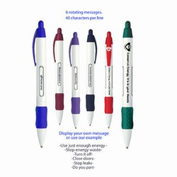 eh100 - Energy Conservation Message Pen, Rotating Messages dealing with Energy Conservation inside of a window help provide energy solutions. 6 Messages Rotate. Energy Conservation Handouts, Energy Conservation Gift, Energy Conservation Incentive