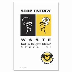 EP142 - Energy Conservation Poster, Energy Conservation Suggestion PosterEnergy Conservation Plackard, Energy Conservation Sign, Save Energy Sign, Energy Waste Sign, Energy Savings Sign Energy Conservation Bulletin, Energy Conservation Posters