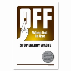 ep199 - Energy Conservation Poster, Energy Conservation Plackard, Energy Conservation Sign, Save Energy Sign, Energy Waste Sign, Energy Savings Sign Energy Conservation Bulletin, Energy Conservation Posters