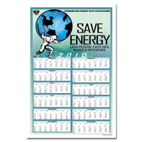 AI-ep268 Energy Conservation Calendar Poster