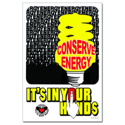 ep314 - Energy Conservation Poster, Energy Conservation Plackard, Energy Conservation Sign, Save Energy Sign, Energy Waste Sign, Energy Savings Sign Energy Conservation Bulletin, Energy Conservation Posters
