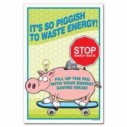 ep332 - Energy Conservation Poster, Energy Conservation Plackard, Energy Conservation Sign, Save Energy Sign, Energy Waste Sign, Energy Savings Sign Energy Conservation Bulletin, Energy Conservation Posters