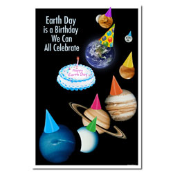 AI-ep441 - Earth Day Birthday Poster
