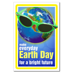 AI-ep459 - Earth Day Bright Future Poster