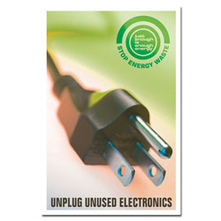 AI-ep506 - Unplug Electronics Energy Conservation Poster