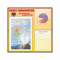 es100 - Energy Sign, Energy Conservation Plackard, Energy Conservation Sign, Save Energy Sign, Energy Waste Sign, Energy Savings Sign Energy Conservation Bulletin, Energy Conservation Posters