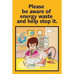 eschp1000-1 Energy Conservation School Poster, Energy School Handouts, Energy Conservation School Items, Energy Conservation School Ideas