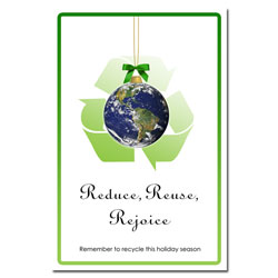 AI-hp500 - Reduce, Reuse, Rejoice - Holiday Conservation Poster