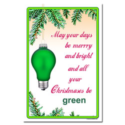 AI-hp501 - Green Holiday Conservation Poster