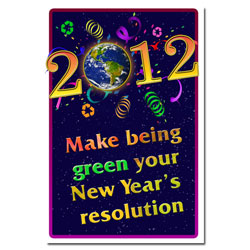AI-hp502 - Green New Year Poster