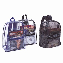 hsh001 - Homeland Security Clear Vinyl Security Backpack, home security awareness, homeland security signs, homeland security awareness