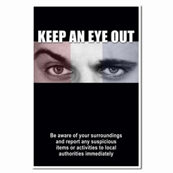 hsp277 - Homeland Security Poster, home security awareness, homeland security signs, homeland security awareness
