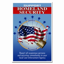 hsp280 - Homeland Security Poster, home security awareness, homeland security signs, homeland security awareness