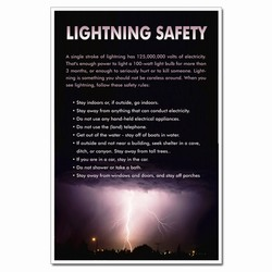 AI-hsp325 - Lightning Awareness Lightning Safety/Homeland Security Poster