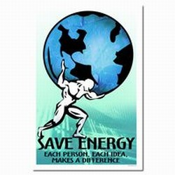 AI-prg0010-01 - Energy Conservation Poster, Energy Conservation Plackard, Energy Conservation Sign, Save Energy Sign, Energy Waste Sign, Energy Savings Sign Energy Conservation Bulletin, Energy Conservation Posters