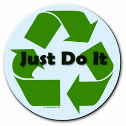 "AI-prg003-03 - Just Do It 8"" MOUSEPAD, Recycling Incentive, Recycling Promotional Ideas, Recycling Promo Gifts, Recycling Gifts for Tradeshows, recycling ad specialties"