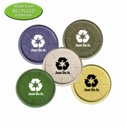 AI-prg003-09 - Recycled Materials Coaster, Recycling Incentive, Recycling Promotional Ideas, Recycling Promo Gifts, Recycling Gifts for Tradeshows, recycling ad specialties
