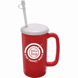 AI-prg006-04 - Just Enough Energy 34oz Mug, Recycling Incentive, Recycling Promotional Ideas, Recycling Promo Gifts, Recycling Gifts for Tradeshows, recycling ad specialties