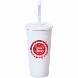 AI-prg006-05 - Just Enough Energy 16oz Tumbler, Recycling Incentive, Recycling Promotional Ideas, Recycling Promo Gifts, Recycling Gifts for Tradeshows, recycling ad specialties