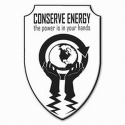 AI-prg007-04 - Power in your Hands Energy Shield Magnet, Energy Conservation Handouts, Energy Conservation Gift, Energy Conservation Incentive