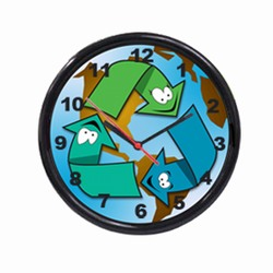 "AI-prg012-05 - Recycling 10"" Wall Clock"