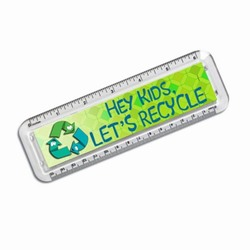 AI-prg012-06 - Recycling Handout Happy Ruler, Recycling Incentive, Recycling Promotional Ideas, Recycling Promo Gifts, Recycling Gifts for Tradeshows, recycling ad specialties