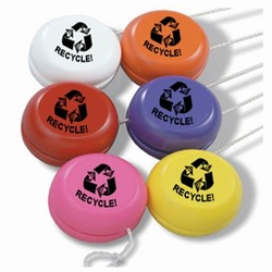 AI-prg012-10 - Recycling Yo-yo Handout, Recycling Incentive, Recycling Promotional Ideas, Recycling Promo Gifts, Recycling Gifts for Tradeshows, recycling ad specialties