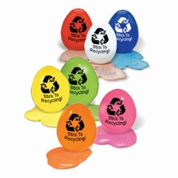 AI-prg012-11 - Recycling Silly Putty Handout, Recycling Incentive, Recycling Promotional Ideas, Recycling Promo Gifts, Recycling Gifts for Tradeshows, recycling ad specialties