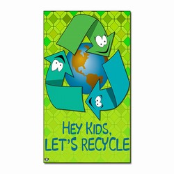 AI-prg012-12 - Recycling Magnet , Recycling Bag, Recycling message bag, Recycling tote bag, recycling canvas tote, recycling message bag, recycling lunch bag