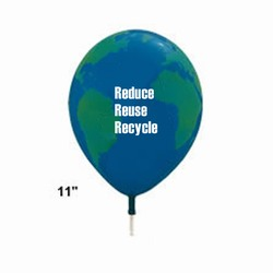 AI-prg014-05 - Recycling Handout Balloons, Recycling Incentive, Recycling Promotional Ideas, Recycling Promo Gifts, Recycling Gifts for Tradeshows, recycling ad specialties