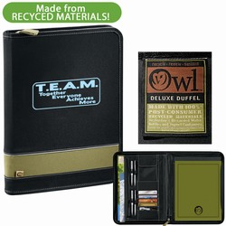 qh099 - Quality Process 100% Recycled Padfolio, Energy Conservation Handouts, Energy Conservation Gift, Energy Conservation Incentive