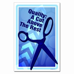 AI-qp373 - Quality: A cut above the rest. Quality Process Poster