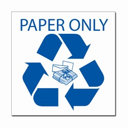 rd032-04 - LARGE 9&quot; x 9&quot; Recycling Decal , Recycling Stickers, Butt-cut Recycling Labels, Vinyl Recycling Decals, Vinyl Recycling Labels, Vinyl Recycling Stickers