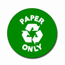 AI-rdbin036-02 - Recycling 4&quot; Vinyl Circle Decal, Recycling Stickers, Butt-cut Recycling Labels, Vinyl Recycling Decals, Vinyl Recycling Labels, Vinyl Recycling Stickers