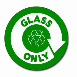 AI-rdbin037-02- Recycling 5&quot; Vinyl Circle Decal, Recycling Stickers, Butt-cut Recycling Labels, Vinyl Recycling Decals, Vinyl Recycling Labels, Vinyl Recycling Stickers