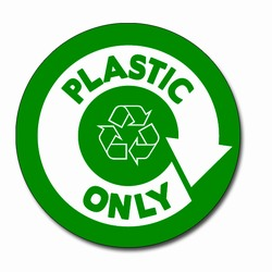 AI-rdbin037-03- Recycling 5&quot; Vinyl Circle Decal, Recycling Stickers, Butt-cut Recycling Labels, Vinyl Recycling Decals, Vinyl Recycling Labels, Vinyl Recycling Stickers